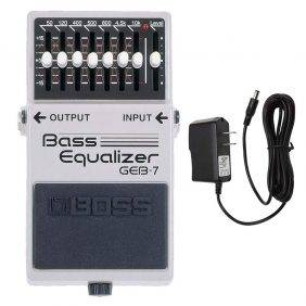 BOSS GEB-7 Bass Equalizer with Pig Power 9V DC 1000ma Power Supply