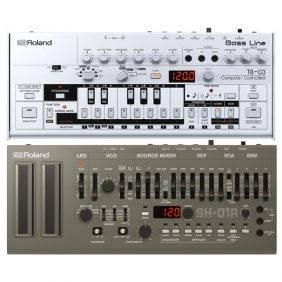 Roland TB-03 Bassline Synth with Roland SH-01a Synth Module