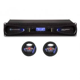 Crown XLS 1002 Power Amplifier w/2 Pig Hog 25ft SPKON to 1/4' Cables