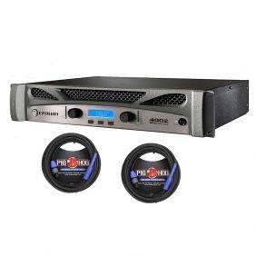Crown XTi 4002 Power Amp & 2 Pig Hog 25ft SPKON to 1/4' Cables Bundle